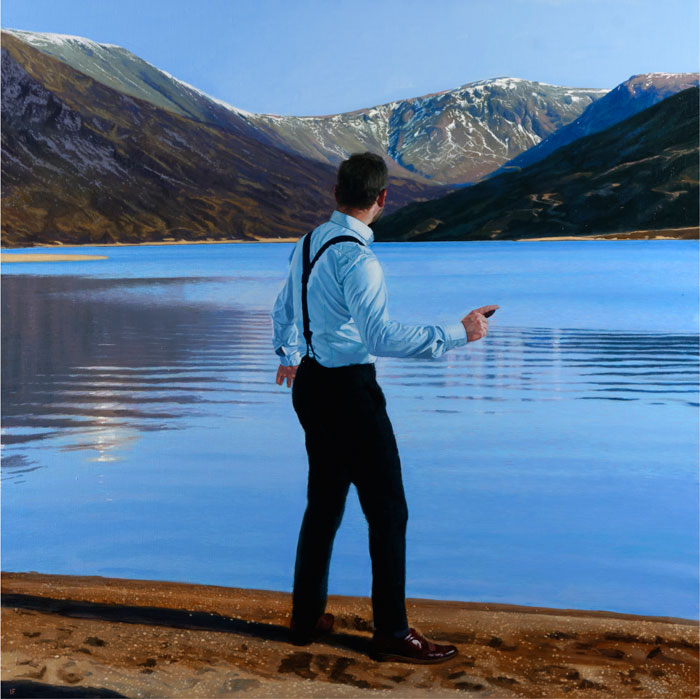 IF6109-Iain Faulkner-Throwing Stones Loch Callater-Signed Limited Edition Print