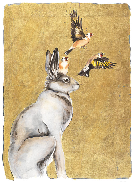 The Lost Words - Jackie Morris - Robert Macfarlane - Hare & Goldfinches - Signed Limited Edition Print