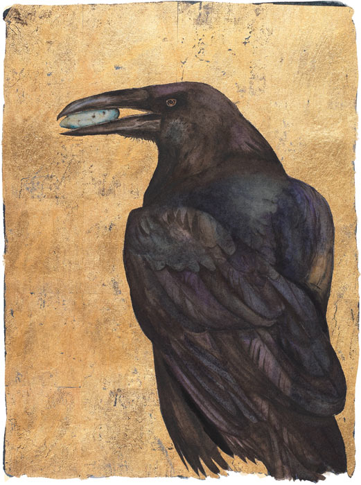 The Lost Words - Jackie Morris - Raven - Signed Limited Edition Print