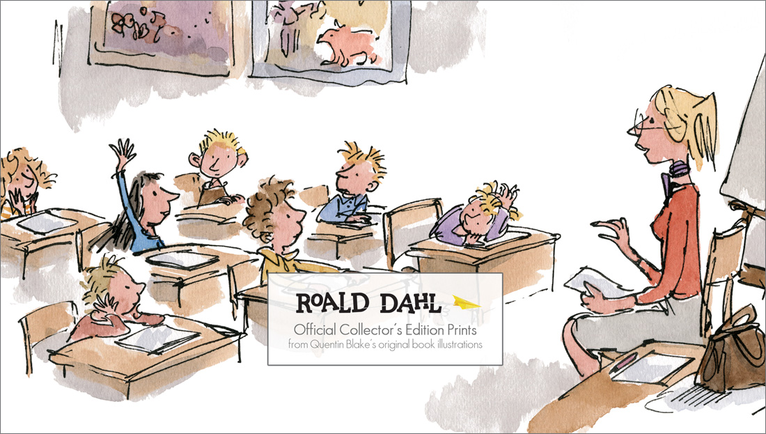 Roald Dahl Quentin Blake Collectors Edition Prints