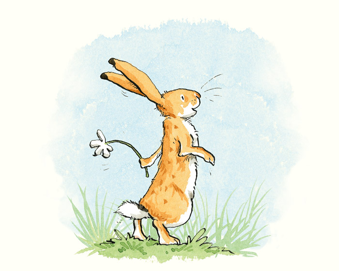 AJ9352 - Anita Jeram - Guess how much I love you - Daisy Print