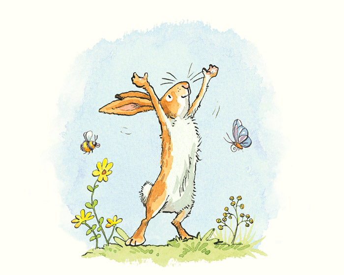 AJ9354 - Anita Jeram - Guess how much I love you - Bee & Butterfly Print