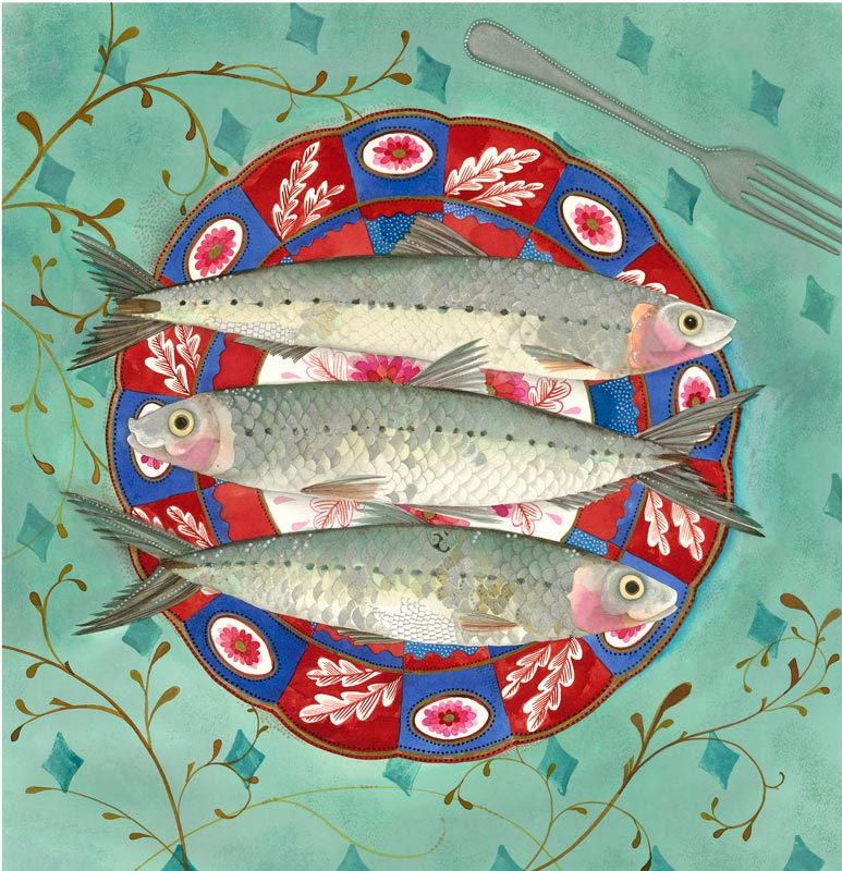 Jane Ray - Three Little Fishes- Limited Edition Print