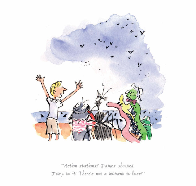 Roald Dahl - Actions Stations - James and the Giant Peach - Print