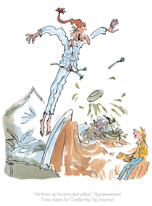 Roald Dahl Quentin Blake - Three cheers for Charlie - Collector's Edition Prints