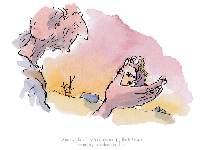 Roald Dahl Quentin Blake - Dreams is full of mystery & magic - Collector's Edition Prints