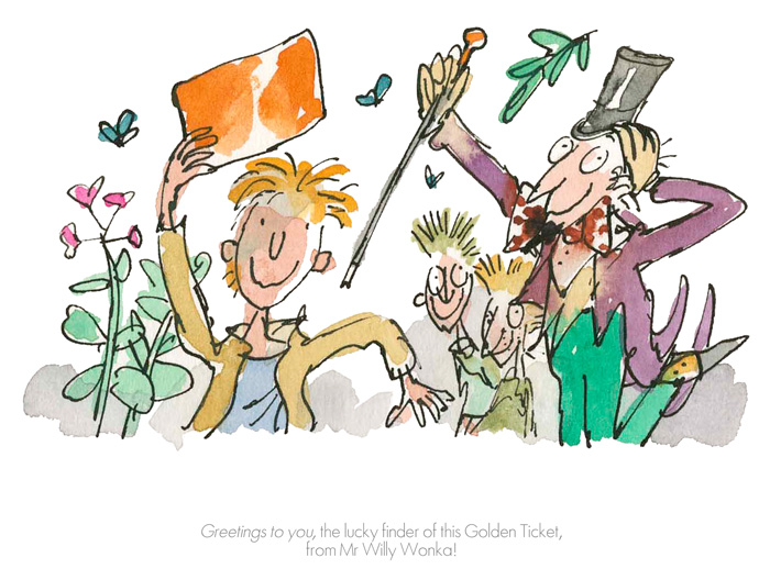 Roald Dahl Quentin Blake - Greetings to you - Charlie & the Chocolate Factory