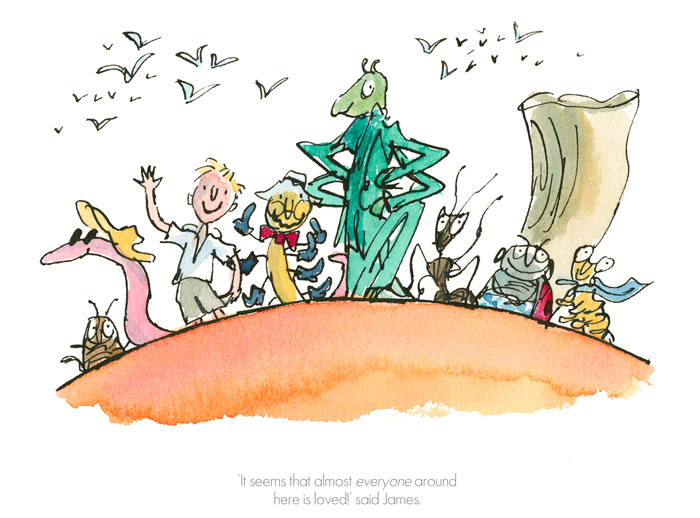 Roald Dahl Quentin Blake - Everyone around here is loved - Collector's Edition Prints