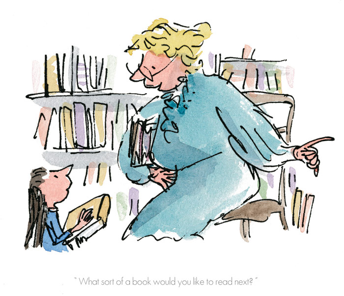 RD9272-Roald-Dahl-Quentin-Blake-Matilda-What-sort-of-book-would-you-like-to-read-Print