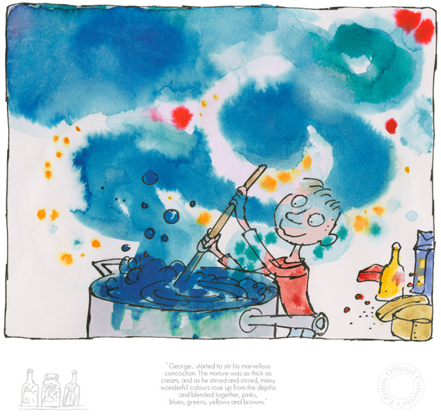 Roald Dahl - George started to stir his marvellous concoction
