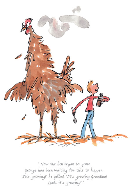 Roald Dahl - The hen began to grow - George's Marvellous Medicine