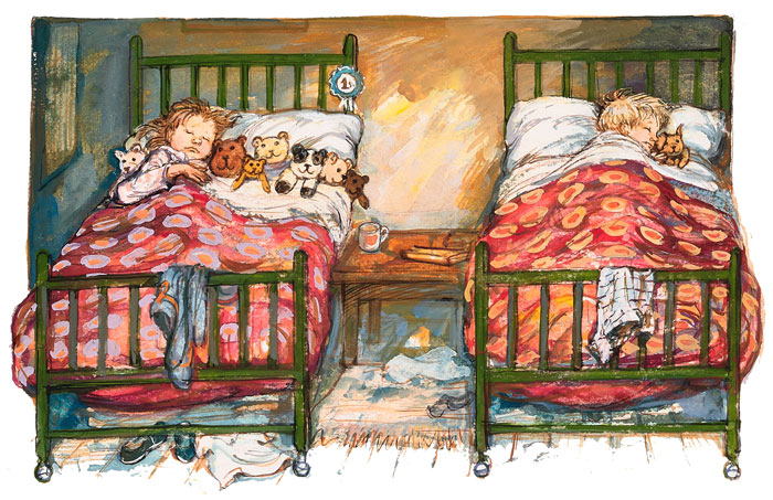 Shirley Hughes - Dave only like Dogger - Signed Limited Edition Print