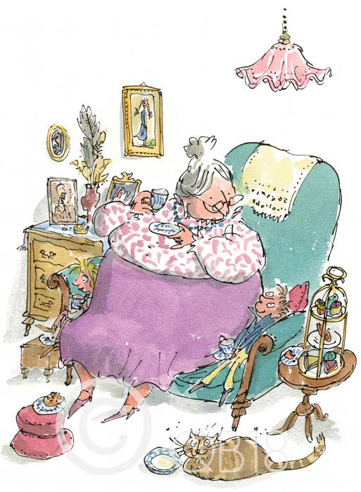 Quentin Blake - G is for Grandma - Collectors Edition Print
