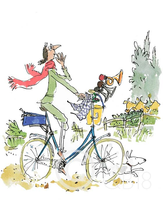Quentin Blake - What this Bike Needs - Collectors Edition Print