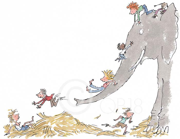 Quentin Blake - Its large and grey and lots of fun - Collectors Edition Print