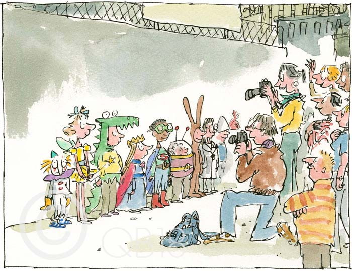 Quentin Blake - School Fancy Dress - Collectors Edition Print
