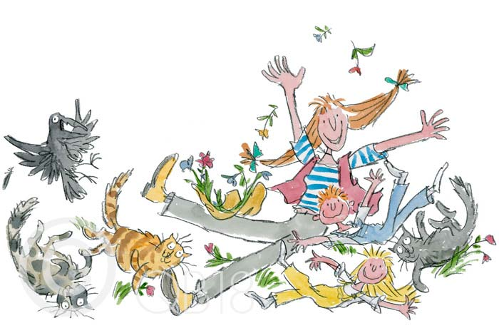 Quentin Blake - She isn't quite like other folk - Collectors Edition Print