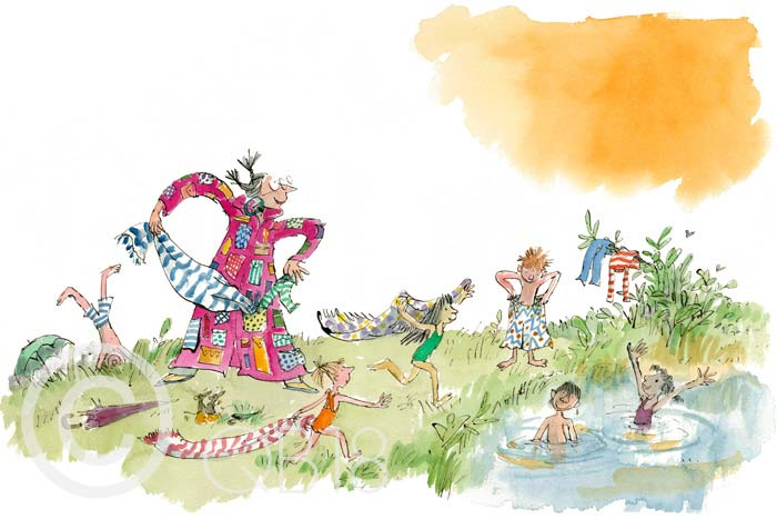 Quentin Blake - Her overcoat has pockets galore - Collectors Edition Print