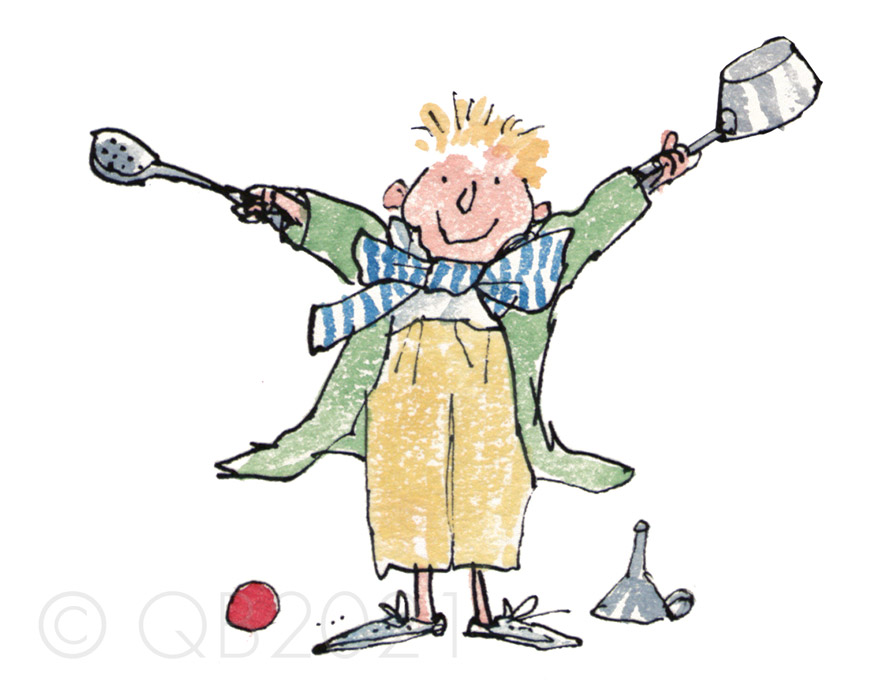 QB9101-Quentin-Blake-Sorting-Out-the-Kitchen-Pans-Collectors-Edition-Print