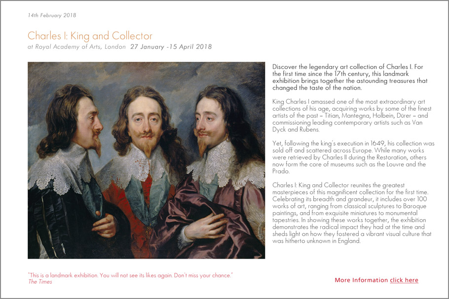 Charles I Royal Academy exhibition