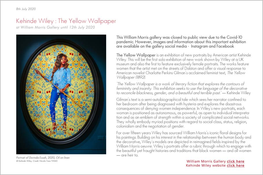 Kehinde Wiley William Morris Gallery